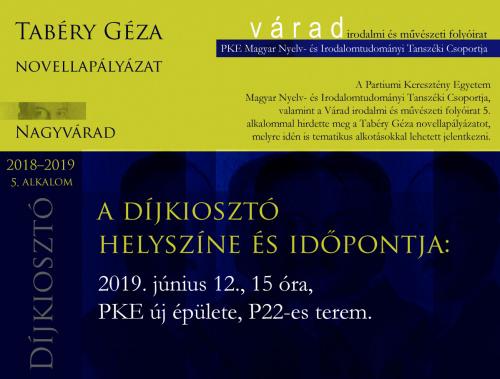 Tabery plakat dijkioszto 2019jún